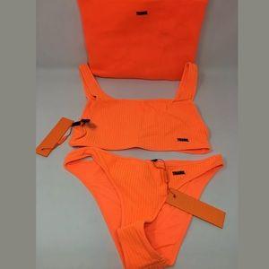 Triangl 2 piece textured bikini set